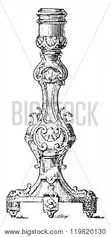 Chandelier Louis XIV, vintage engraved illustration. Dictionary of words and things - Larive and Fleury - 1895.