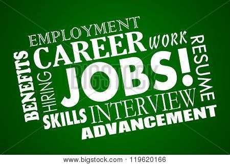 Jobs Career Interview Hiring Interview Word Collage