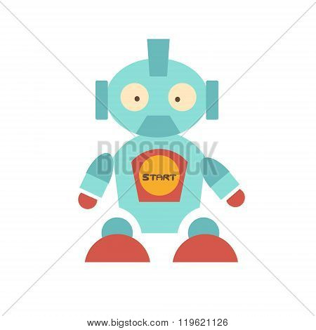 Cute Robot with red shoes