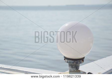 circle lamp near waterfront Bang pu