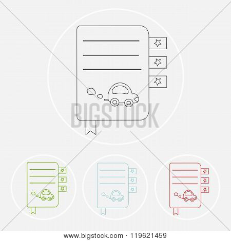 Set of books. Vector symbols of reading and learning. Book club illustration. Education logo element.kids (baby child) reading club