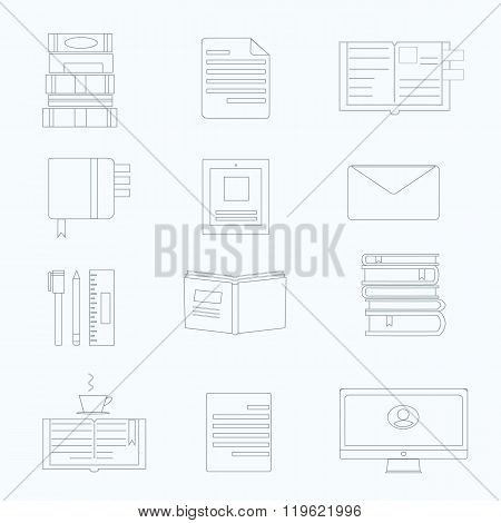 Vector set of productivity icon