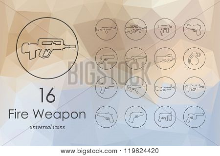 Set of firearms icons