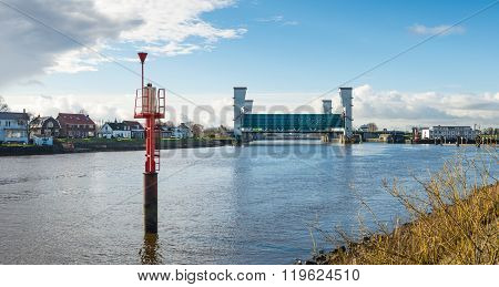 Storm Surge Barrier River Hollandse Ijssel