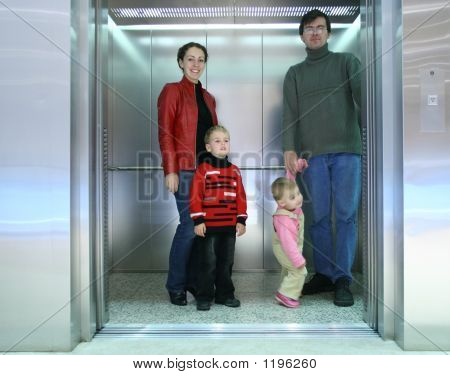 Family In The Elevator
