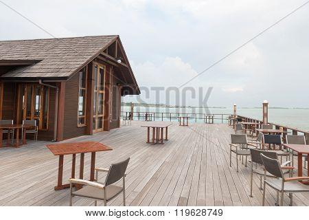 Maldives. Villa Piles On Water