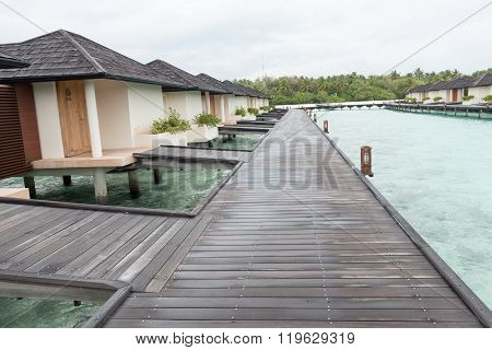 Maldives. Villa Piles On Water
