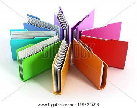 Folders Arranged In Circular Shape