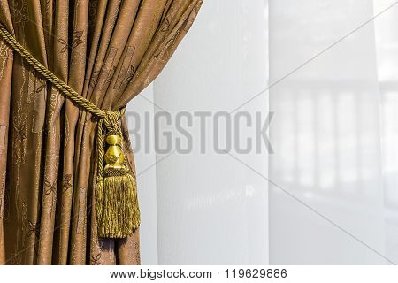Beautiful Curtain Close-up