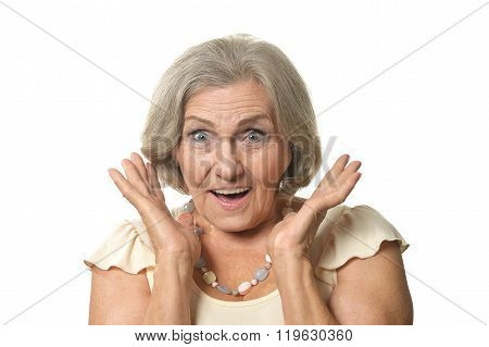 Surprised Older woman