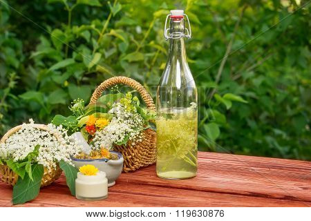 Elderflower Juice, Medicinal Herbs