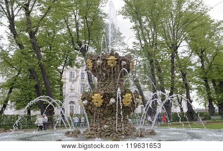 RUSSIA; SAINT-PETERSBURG - JULY 5 - Fountain