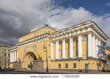 The Admiralty, The Facade Of The Neva. Saint Petersburg