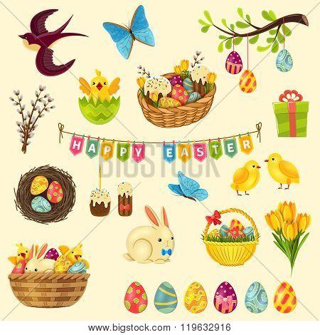 Easter Symbols Set