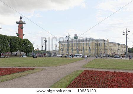 RUSSIA; SAINT-PETERSBURG - JULY 5 - View of the Birzhevaya Square on July 5; 2015 in St. Petersburg
