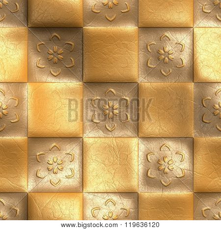 Plastic background ornamental tile