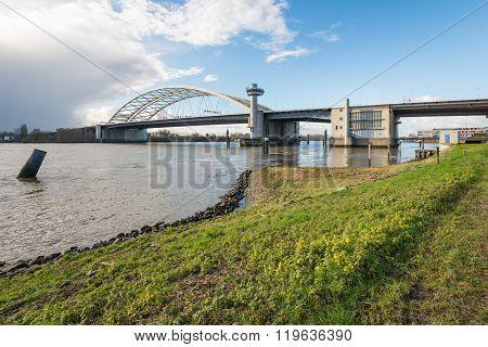 Van Brienenoord Bridge In Rotterdam