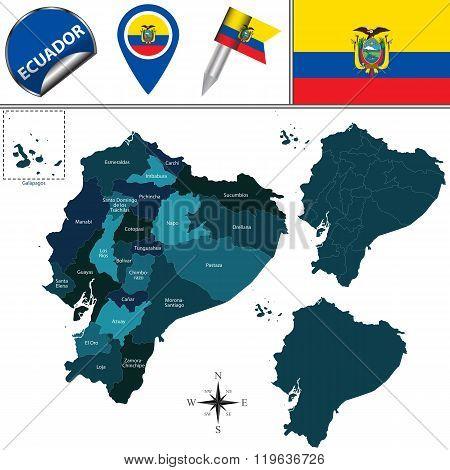 Map Of Ecuador With Named Provinces