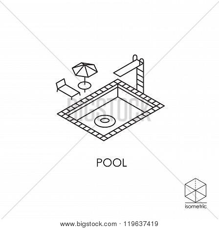 Isometric Vector Icon Pool