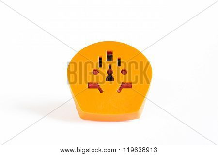 Orange travel plug multi adapter
