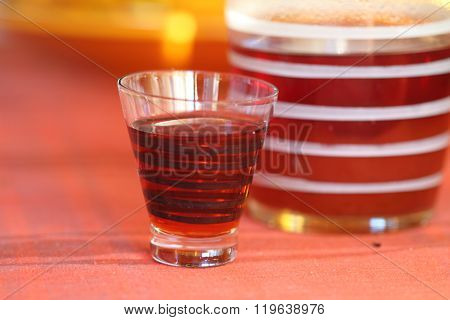 Old Kind House Liqueur From A Guelder-rose