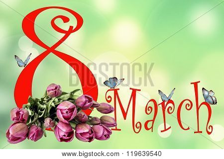 March 8 Card Womens Day