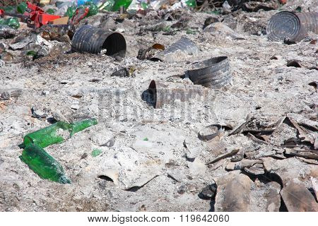 City dump: the demonstration of environmental problems