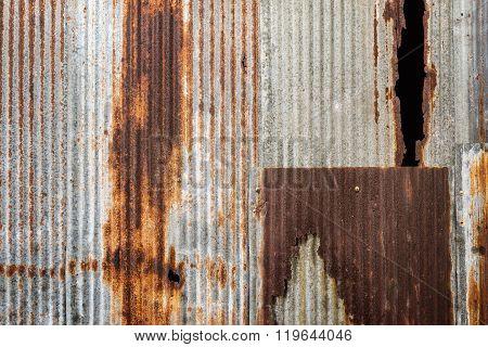 Old rusty zinc