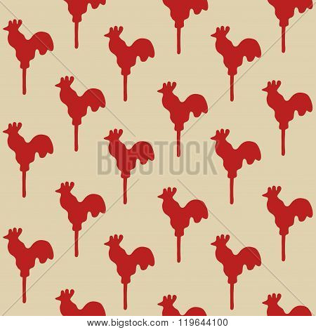 Seamless Pattern Cock Lollipop
