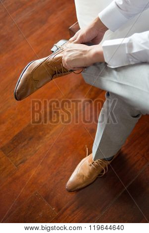 wearing shoes