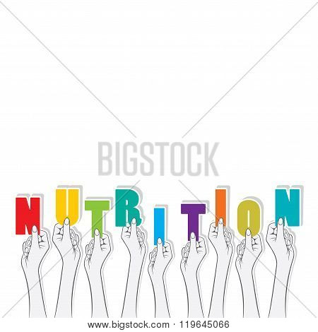 nutrition text banner design