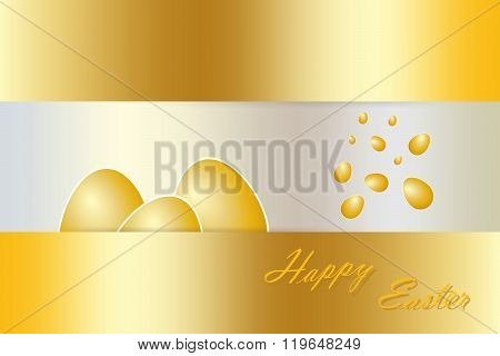 Luxury golden eggs vector
