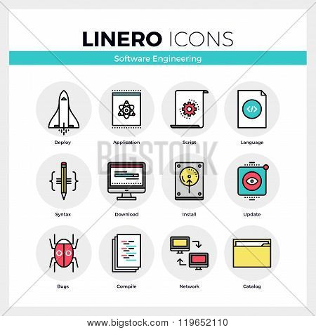 Software Engineering Linero Icons Set