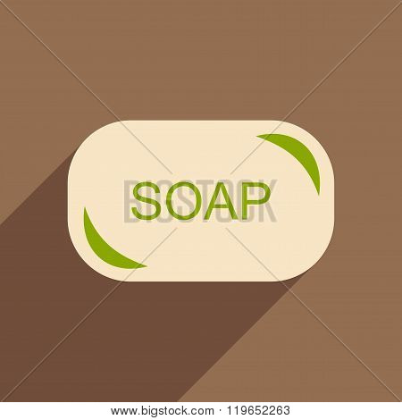 Flat with shadow icon and mobile application laundry soap