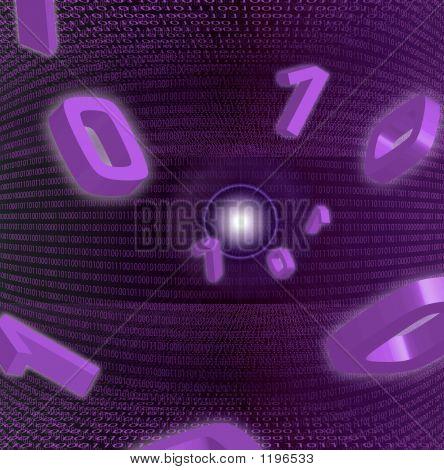 Zero And One Purple