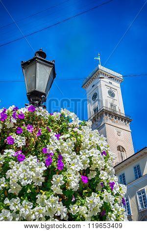Lviv city hall tower