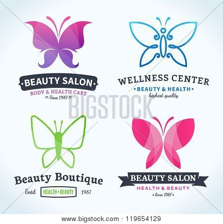 Beauty And Health Logo, Icons And Design Elements