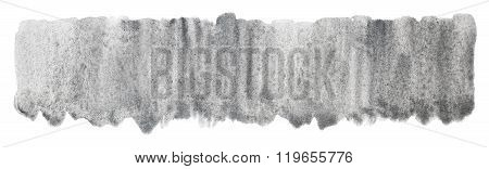 Watercolor Silver Gray Grey Spot Texture Background Isolated