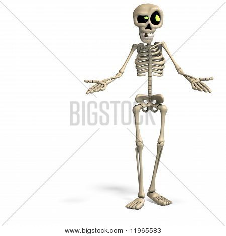 Esqueleto Dibujo Animado Esqueleto de Dibujos Animados