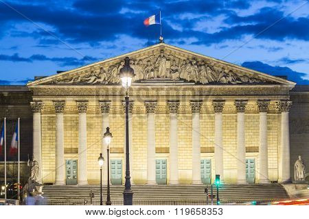 The National Assembly, Paris, France.