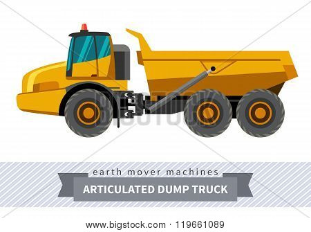 Articulated Dump Truck For Earthwork Operations