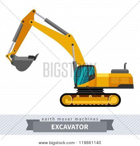 Excavator For Earthwork Operations