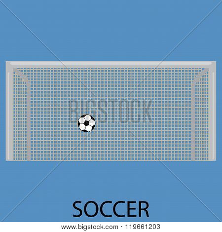 Soccer Sport Icon Flat