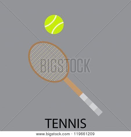Tennis Sport Icon Flat