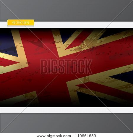 The United Kingdom or Union Jack grunge flag.
