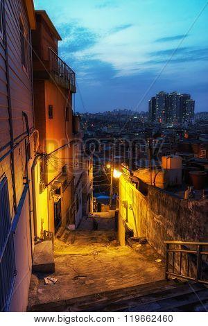 Haebangchon Narrow Alleyway