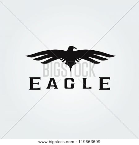 Bird Eagle Abstract Vector Design Template . Concept Of Graphic Clipart Work
