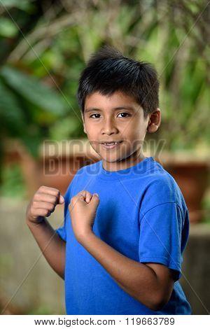 Latino Boy With Fist