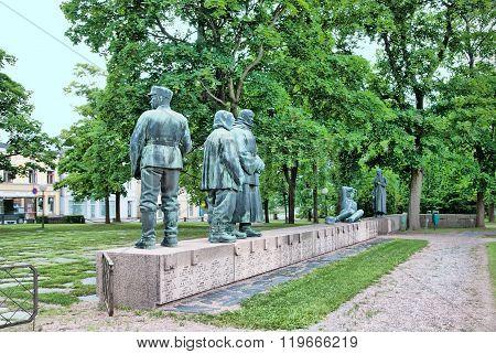 Pori. Finland. War memorial