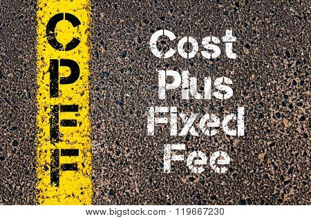 Business Acronym Cpff Cost Plus Fixed Fee